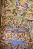 De mural schilderijen van de sistinekapel Stock Foto's