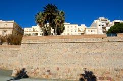 De muren van Cartagena, Spanje Stock Afbeeldingen