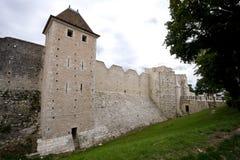 de muren van de de 12de eeuwvesting stock foto's
