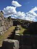 De muren van de Inkasteen in Cusco Royalty-vrije Stock Foto