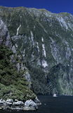 De Muren van de rots van een Natuurlijke Fiord royalty-vrije stock fotografie