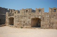 De Muren van de Stad van Rhodos Stock Fotografie