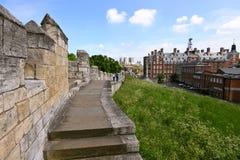 De Muren van de Stad van York, het UK Stock Afbeelding