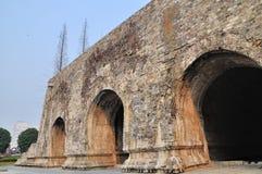 De muren van de Xi'anstad stock afbeelding