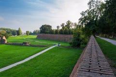 De Muren van Ferrara Stock Afbeeldingen