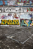 De muren van Graffiti Stock Foto
