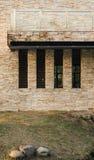 De Muren van het balkon en van de Steen Stock Foto's