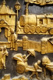 De muren van het beeldhouwwerklandschap Stock Foto's