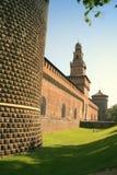 De muren van het kasteel Stock Afbeelding