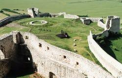 De muren van het kasteel Stock Foto's