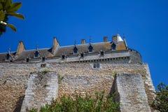 De muren van het kasteel van chateaudun royalty-vrije stock fotografie