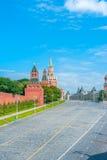 De Muren van het Kremlin stock afbeelding