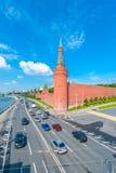 De Muren van het Kremlin stock afbeeldingen