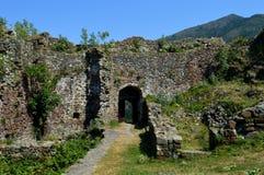 De muren van het oude fort stock fotografie