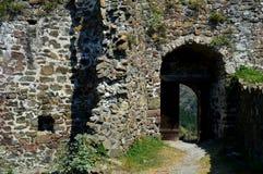 De muren van het oude fort stock foto