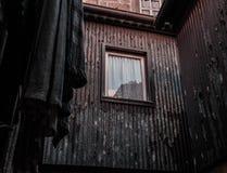 De muren van het schilstaal Stock Afbeeldingen