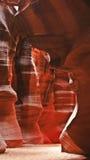 De Muren van het Zandsteen van de Canion van de antilope Stock Foto's