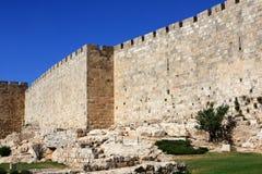 De muren van Jeruzalem Stock Afbeeldingen
