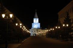 De muren van Kazan het Kremlin stock fotografie