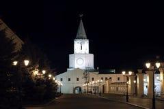 De muren van Kazan het Kremlin stock afbeelding