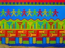 De muren van Mandawa stock fotografie