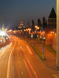De muren van Moskou het Kremlin. Royalty-vrije Stock Afbeelding