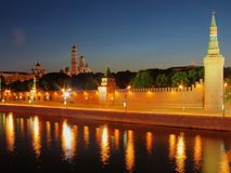 De muren van Moskou het Kremlin. Royalty-vrije Stock Foto