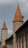 De Muren van Rothenburg stock afbeeldingen