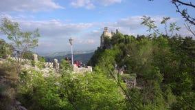 De muren van San Marino stock videobeelden