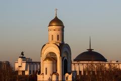 De musea en de kerken van Moskou stock afbeeldingen