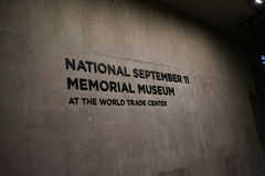 9/11 de museu memorável, ponto zero, WTC Imagens de Stock