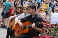 De musici van de straat Stock Foto