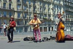 De musici van de straat. Stock Afbeeldingen
