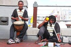 De musici van de straat Stock Foto's