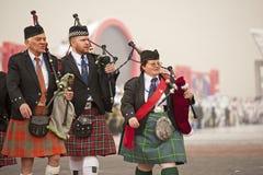 De musici van het Hoogland van Schotland Stock Afbeeldingen