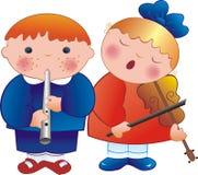 De musici van kinderen Stock Foto's