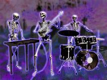 De musici van skeletten Stock Foto
