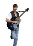 De Musicus van blauw Stock Foto's