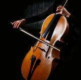 De musicus van de cello stock afbeeldingen