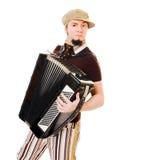 De musicus van de harmonika stock afbeelding