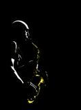 De musicus van de jazz Stock Foto