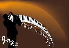 De musicus van de jazz Stock Afbeeldingen