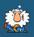 De musicus van de kerstman in blauw royalty-vrije illustratie