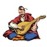 De musicus van de kozak Stock Foto