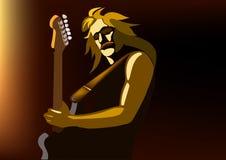 De musicus van de rots royalty-vrije illustratie