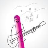 De musicus van de rots het spelen gitaar vector illustratie