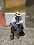 De Musicus van de straat Stock Afbeeldingen