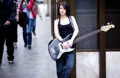 De musicus van de straat Stock Foto