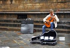 De musicus van de straat in Florence, Italië royalty-vrije stock afbeeldingen