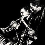 De musicus van het jazzmessing stock illustratie